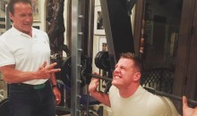 The Arnie and J.J. Watt Bromance Continues with a Workout (Video)