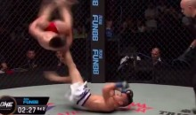 This Graceful MMA Nutshot Involves a Flip and a Stomp (Video)