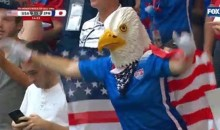 USWNT Fan In Eagle Costume Steals the Show at Women's World Cup Final
