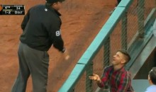 Ump Takes Foul Ball From a Hipster, Tosses It to Kid (Video)