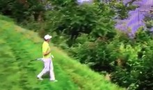 Zach Johnson's Putt Interrupted by an Aircannon on a Boat (Video)