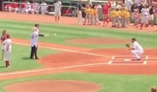 Babe Ruth's Daughter Thew Out the Ceremonial First Pitch at Fenway on Sunday (Videos)