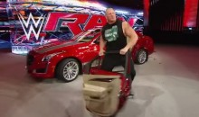 Brock Lesnar Ripped the Door Off a Cadillac and Threw It Into the Audience on WWE Monday Night Raw (Videos)