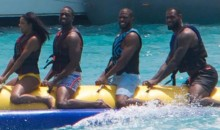 Feast Your Eyes on Gabrielle Union, Dwyane Wade, Chris Paul, and LeBron James Riding an Inflatable Banana (Pic)