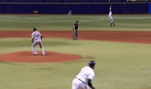 Jason Kipnis Not Quite Tall Enough to Save Carlos Carrasco No-Hitter (Video + Pic)