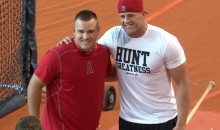 Gigantic Mega-Human JJ Watt Crushes Home Runs at Astros Batting Practice (Video)