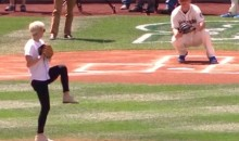 Megan Rapinoe First Pitch: Pretty Good for a…World Champion Soccer Player (Video)