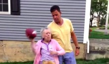 100 Year-Old Granda Throws Tight Spiral, Yells 'Free Brady' (Video)