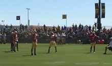 Aaron Rodgers Throws Football Into Tiny Net 45 Yards Away (Video)