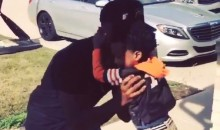 Andre Hawkins Says Goodbye To His Son in the Cutest Way (Video)