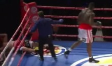 Boxer KOs Opponent Right Through The Ropes (Video)
