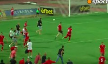 CSKA Sofia Fans Chase Ashdod Players Off the Pitch (Video)