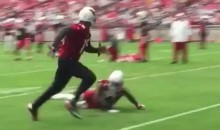 Cardinals WR Michael Floyd Shows Off Sick Moves at Camp (Video)