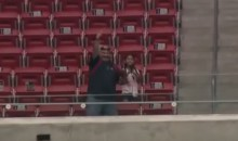 J.J. Watt Throws Ball to Fan in Upper Deck (Video)