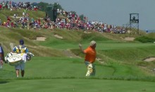 John Daly Puts Three Balls and a Club Into Lake Michigan at PGA Championship (Video)