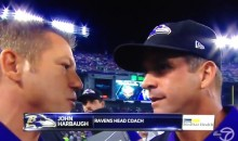Bitter John Harbaugh Gives Angry Half-Time Interview (Video)
