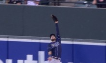 Kevin Kiermaier Robs Manny Machado of a Homer With Crazy Leaping Catch (Video)