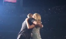 Kobe Bryant Presents Taylor Swift With Championship Banner at Staples Center (Video)