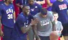 LeBron and Melo Crack Up at Westbrook at Team USA Camp (Video)