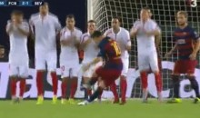 Lionel Messi Scores Two Free Kicks During Wild UEFA Super Cup (Videos)