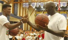 Michael Jordan Chumps Jimmy Butler in a Shooting Contest! (Video)