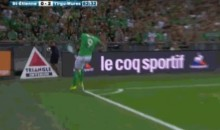 Saint-Etienne's Nolan Roux Kicks Ball at Ballboy's Face (Video)