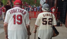 Old Couple With Matching Giants and Cardinals Jerseys Is Adorable (Pic)