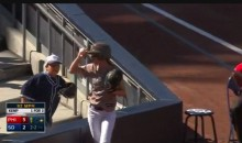 Padres Ballgirl Makes a Spectacular Line Drive Snag (Video)