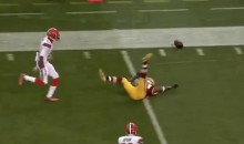 Pierre Garcon Drops Wide Open TD Pass From RGIII (Video)