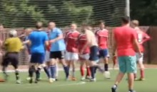 Ref Pulls Out Stun Gun During Soccer Melee, Gets KO'd (Video)