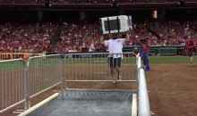 Dude Breaks Washing Machine Toss World Record at Reds Game (Video)