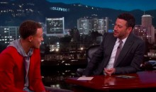 Steph Curry Discusses Obama's Trash Talk on 'Kimmel' (Video)