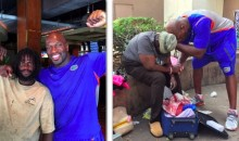 The WWE's Titus O'Neil Keeps Bringing Homeless People to a Restaurant (Pics)