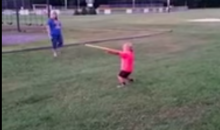 This 4 Year-Old Has a Pretty Sweet Bat Flip Going On (Video)