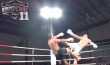This Heel Kick Knockout Is As Brutal As It Gets (Video)