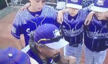 This Texas Little League Coach Is PUMPED UP! (Video)