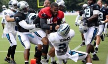 Cam Newton Fights Teammate at Panthers Training Camp (Video)