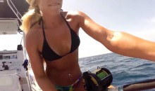 Watch Hot Female Angler Darcie Arahill Land an Eight-Foot Bull Shark (Videos + Pics)