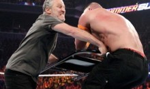 Jon Stewart Turns Heel at SummerSlam, Hits John Cena with a Chair So Seth Rollins Could Win (Video)