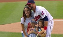 Mike Aviles' Daughter Throws Out First Pitch at Indians Game (Video)