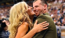 Rams Cheerleader Reunited with Military Husband Before Preseason Game (Video)