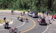 Horrific Cycling Crash at Tour of Utah Somehow Doesn't Kill Anybody (Video)