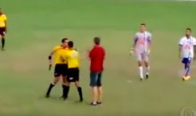 A Brazilian Soccer Ref Actually Pulled out a Gun on the Field (Video)