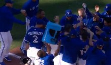 Ben Revere Fails to Administer a Gatorade Bath after Josh Donaldson's Walk-off HR (Video)