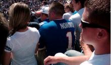 Bills Fan Rocks a 'Wide Right' Scott Norwood Jersey (Pic)