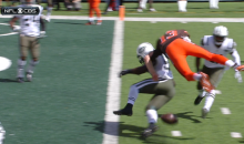 Josh McCown Hit Into A Helicopter Fumble (Video)
