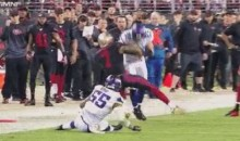 Colin Kaepernick Gets Hit Harder Than Any QB Should Ever Get Hit (Video)