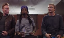 Conan O'Brien Plays 'Tony Hawk' With: Lil' Wayne and Tony Hawk (Video)