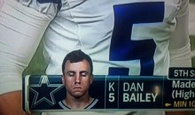 Cowboys Kicker Dan Bailey Looks Drugged Out in On-Screen Headshot (PIC)