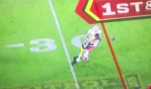 Damarious Randall Lays a Stinger on KC RB Charcandrick West (Video)